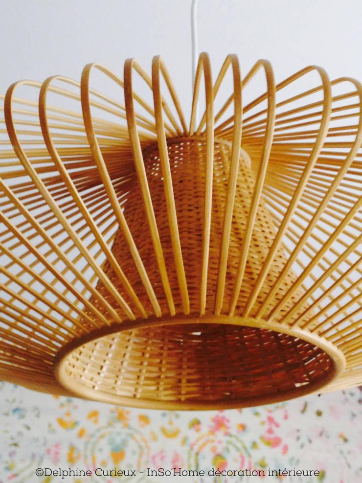Détail luminaire Birman: Bureau de style  par INSO'HOME Décoration Intérieure