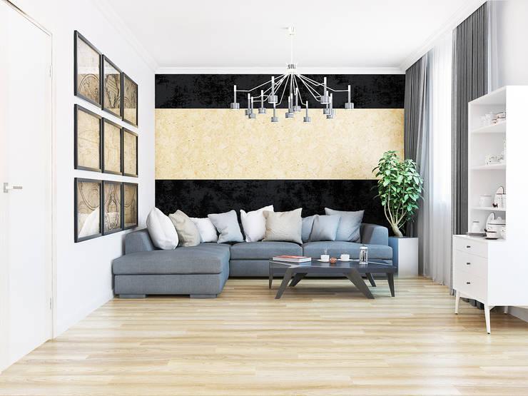 Living room: Гостиная в . Автор – AbcDesign