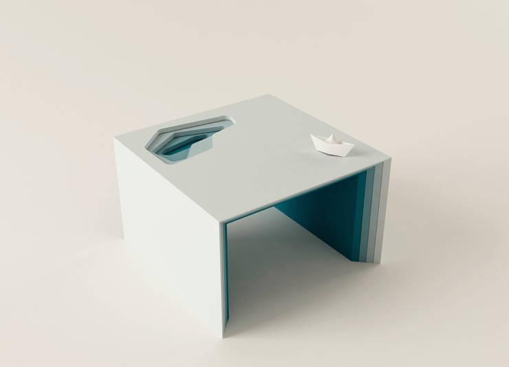 BIG BLU: Soggiorno in stile  di Diego De Conca Architetto,