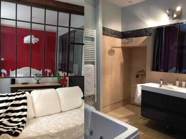 Appartement dans quartier historique de Dijon: Salle de bain de style  par Kreatitud Deco Design