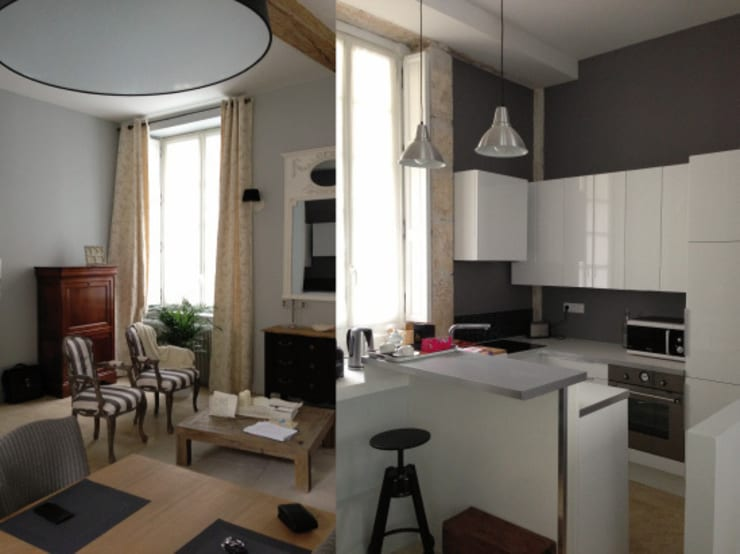 Appartement dans quartier historique de Dijon: Cuisine de style  par Kreatitud Deco Design