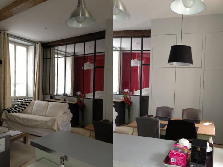 Appartement dans quartier historique de Dijon: Salle à manger de style  par Kreatitud Deco Design