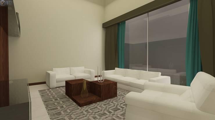 Proyecto  A.A : Salas de estilo  por Beatriz Quiroz Interiorismo