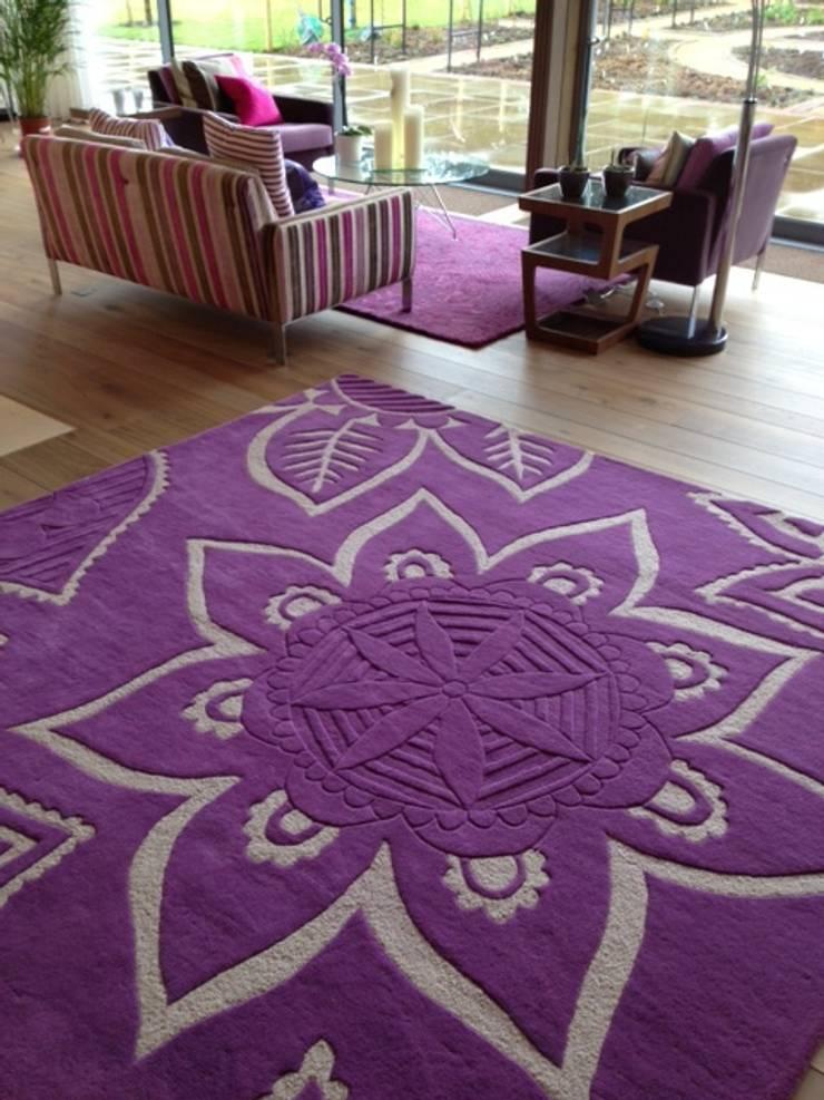 Bespoke Rugs:  Living room by Anna V Rugs