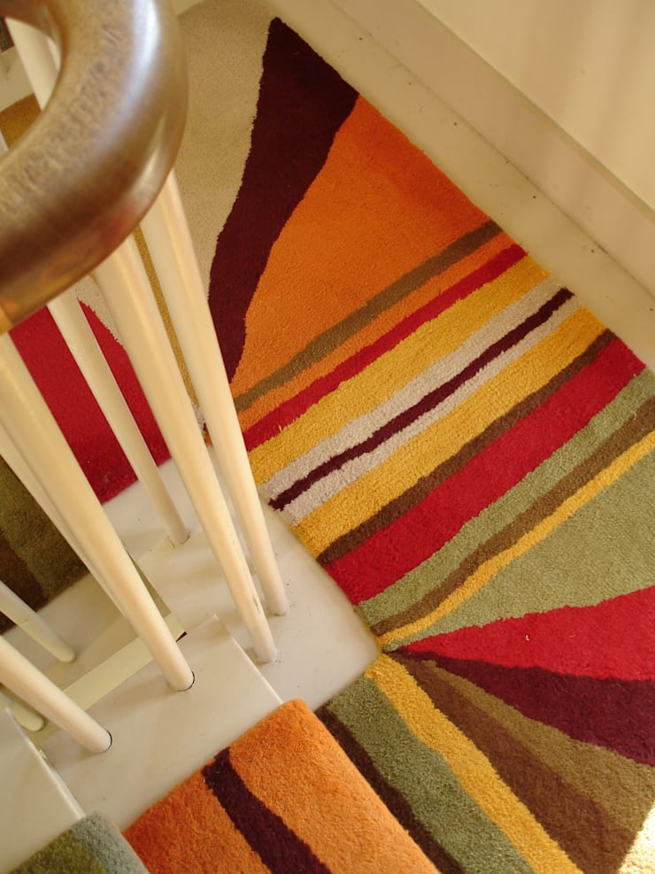 Bespoke Stair Runners:  Corridor, hallway & stairs by Anna V Rugs