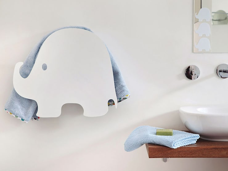 Elephant - electric towel warmer:  in stile  di MG12 , Eclettico Alluminio / Zinco