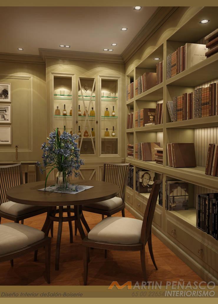 Hall y diseño de boiserie para salón:  de estilo  de MARTINPEÑASCO interiorismo