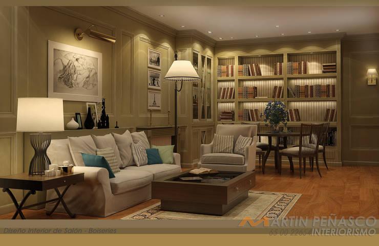 Realidad Virtual de Mobiliario para salón:  de estilo  de MARTINPEÑASCO interiorismo