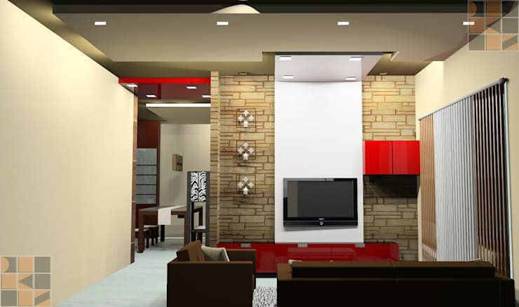Proposed Residential Interiors for Ms. Brindha, Chennai:   by Quadrantz Consultants