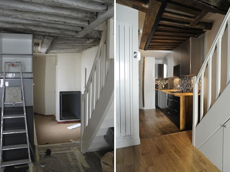Duplex 3 pièces 53m2:  de style  par Créateurs d'interieur
