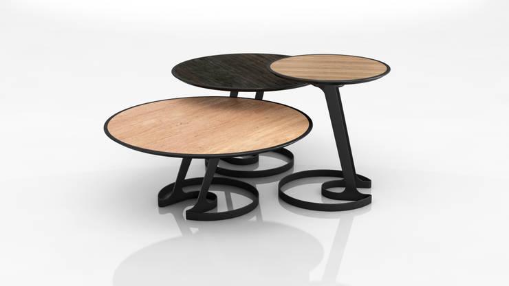 Table ORBIS: Salon de style  par Gauthier Poulain Design