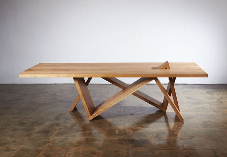 the Mountain range_Table: Y.G.Park Wood Studio [박연규 우드스튜디오]의  다이닝 룸
