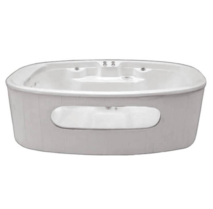 Cristal spa para exterior: Baños de estilo  por Oikos Design