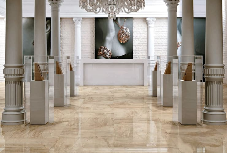Plaza Yapı Malzemeleri – Mermer Seramik:  tarz Ofisler ve Mağazalar