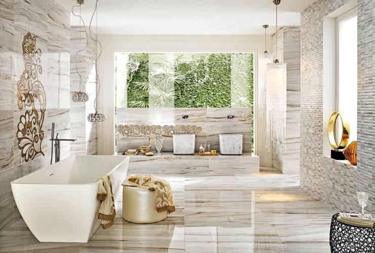 Plaza Yapı Malzemeleri – Mermer Seramik:  tarz Banyo