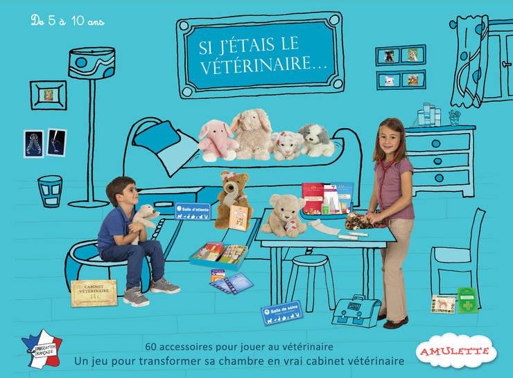Si j'étais le vétérinaire: Chambre d'enfants de style  par Amulette
