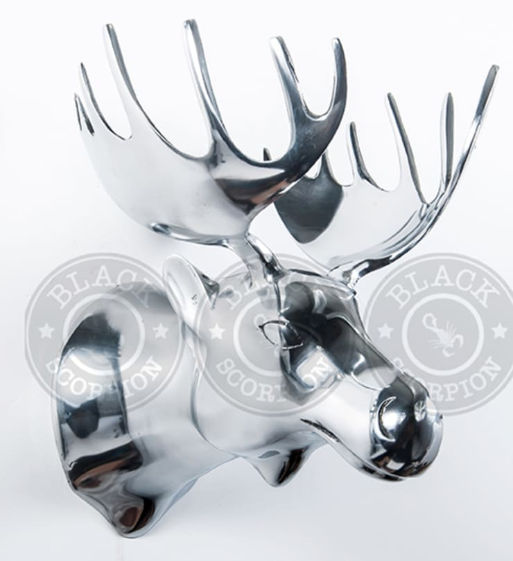 Animal Heads:  Artwork by Black Scorpion Home Decor