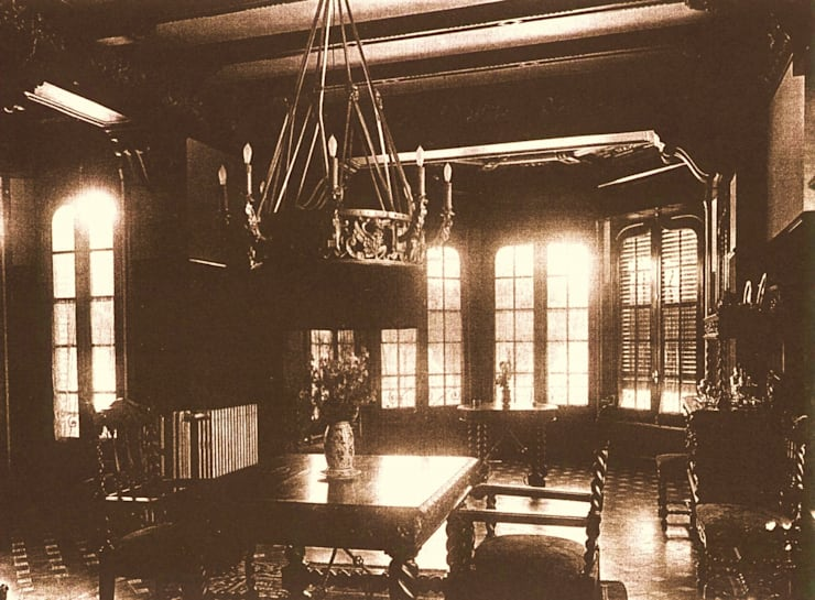 Interior en 1940. Salón: Hoteles de estilo  de ARQUIGESTIÓN ARAGÓN S.L.P.