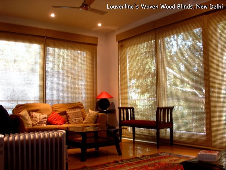 Natural Shades, Woven wood Blinds:   by Louverline Blinds