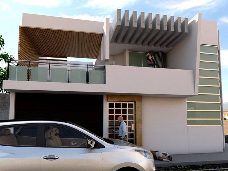 Residencia Luis Moya: Casas de estilo  por 3D MarqJes arquitecto