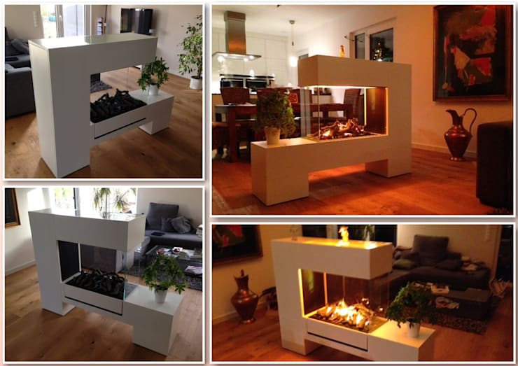 Aspect SPlan 13 EL-D Raumteiler  Kamin:  Wohnzimmer von Kamin-Design GmbH & Co KG
