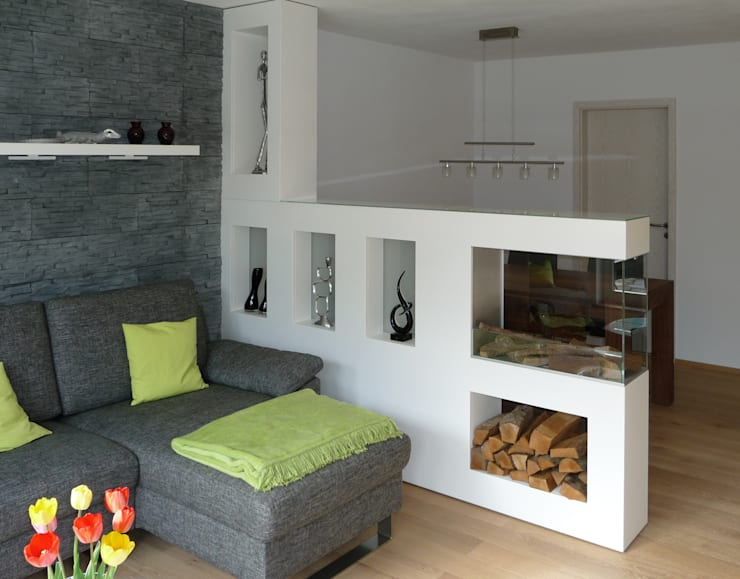 Aspect SPlan13-BE ST: moderne Wohnzimmer von Kamin-Design GmbH & Co KG