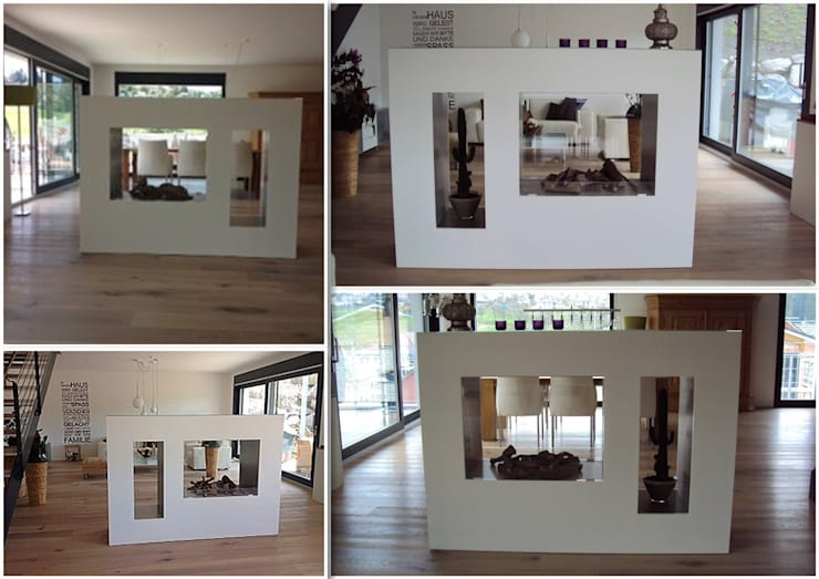 ASPECT TKG Suisse BE Raumteilerkamin :  Wohnzimmer von Kamin-Design GmbH & Co KG