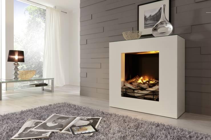 LINEA StHz Elektrokamin: moderne Wohnzimmer von Kamin-Design GmbH & Co KG
