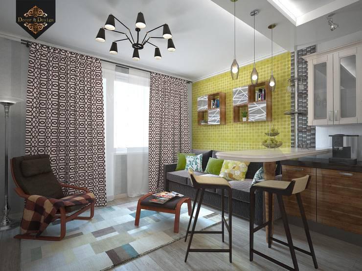 Весенний интерьер: Гостиная в . Автор – Decor&Design,