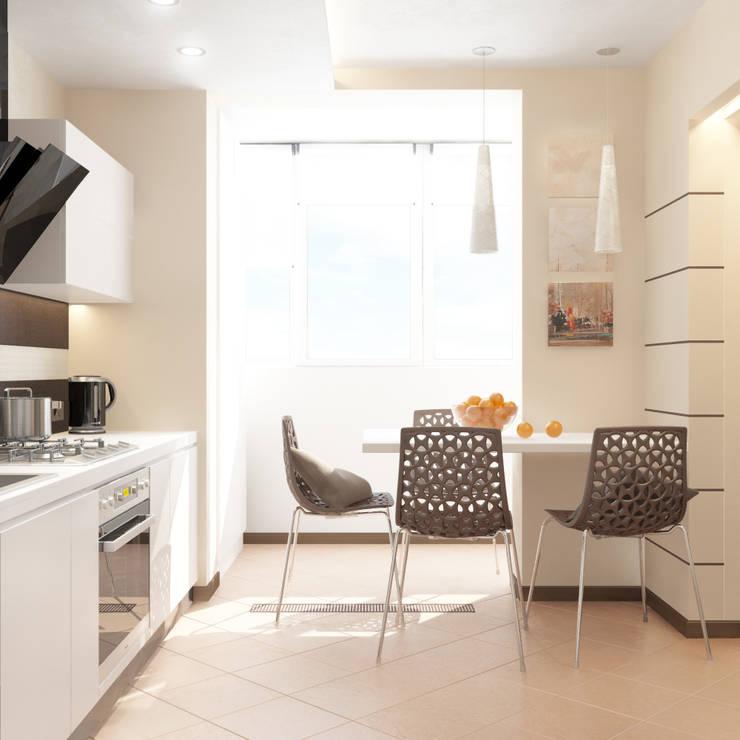 Раздвигаем пространство: Кухни в . Автор – 'PRimeART'