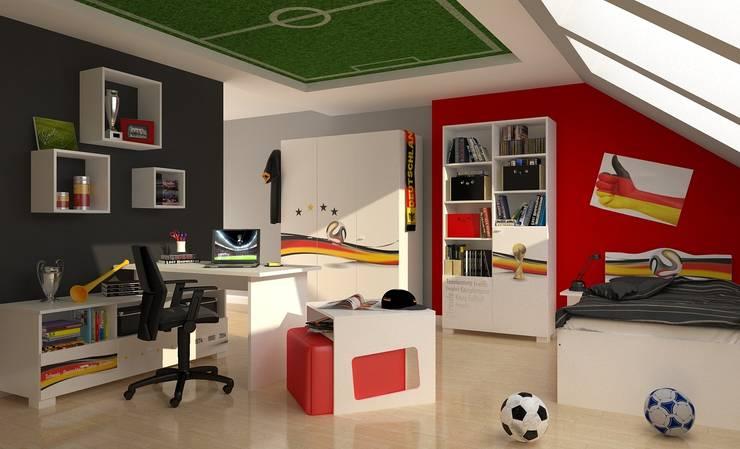 Weltmeister: ausgefallene Kinderzimmer von Möbelgeschäft MEBLIK