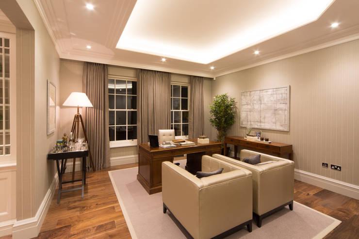 Flairlight Project 1 Oxshott, Tudor House: modern Study/office by Flairlight Designs Ltd