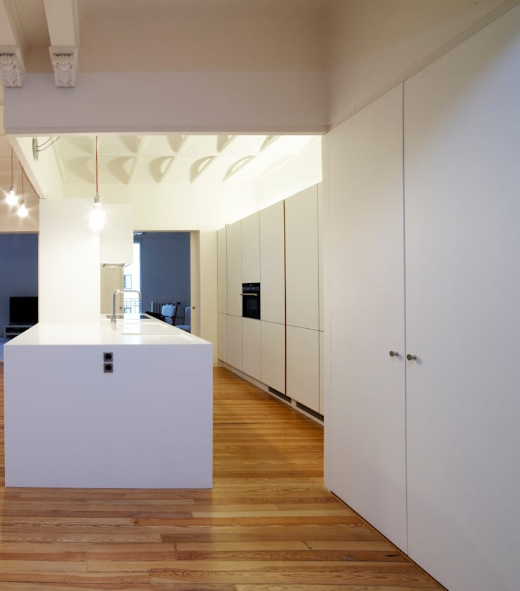 Vivienda Ortega y Gasset.Madrid: Cocinas de estilo  de Beriot, Bernardini arquitectos