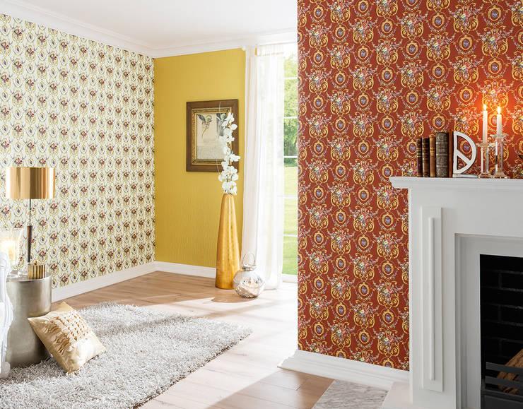 Coleccion Chateau: Paredes y suelos de estilo  de Disbar Papeles Pintados