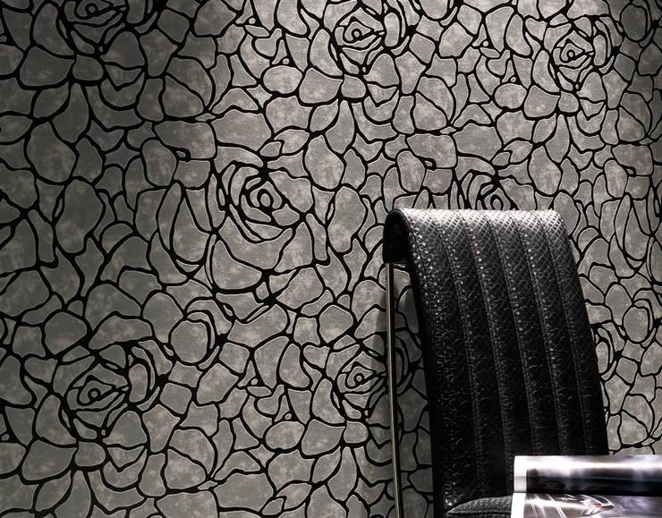 Coleccion Flock 4: Paredes y suelos de estilo  de Disbar Papeles Pintados