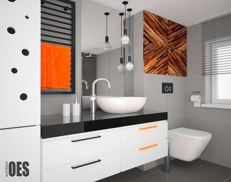 Projekt aranżacji wnętrz domu pod Krakowem 2: styl , w kategorii Łazienka zaprojektowany przez OES architekci,