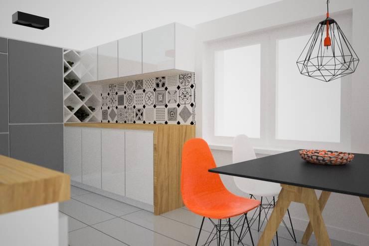 Projekt aranżacji wnętrz domu pod Krakowem 2: styl , w kategorii Kuchnia zaprojektowany przez OES architekci,