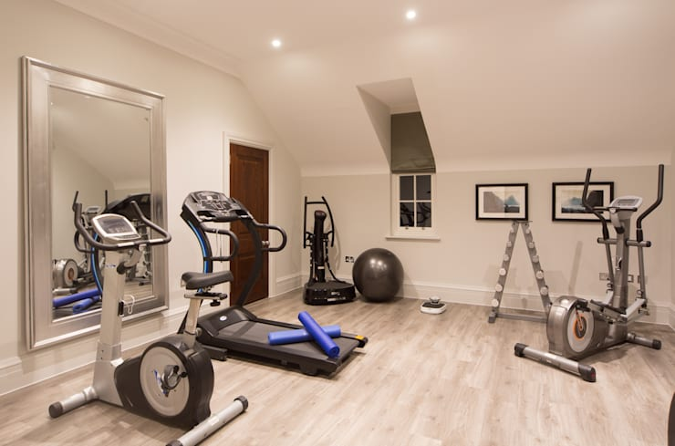 Flairlight Project 1 Oxshott, Tudor House:  Gym by Flairlight Designs Ltd