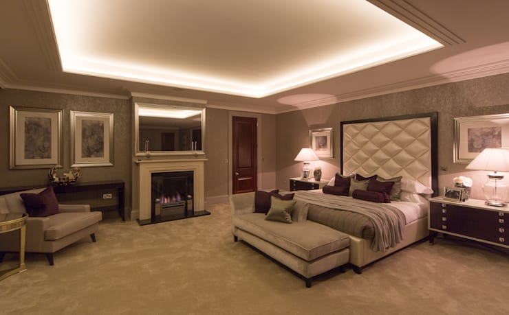 Flairlight Project 1 Oxshott, Tudor House:  Bedroom by Flairlight Designs Ltd