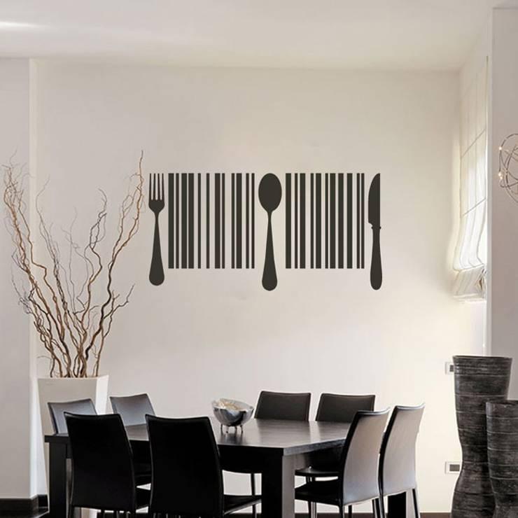 Vinilo decorativo Código de barras: Paredes y suelos de estilo  de Goodvinilos