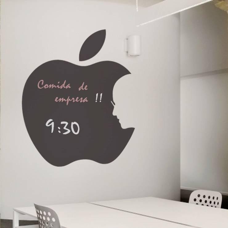 Vinilo decorativo Manzana Steve Jobs: Paredes y suelos de estilo  de Goodvinilos