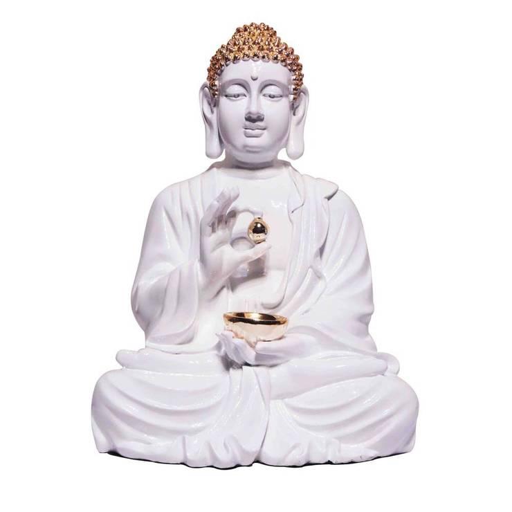 Yoga Studio Decor - Zen Buddha Polystone Statue:  Artwork by M4design