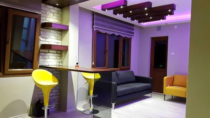 ROAS Mimarlık – Bar ve Oturma Bölümü:  tarz Mutfak