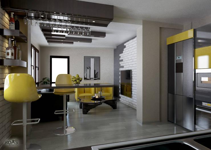 ROAS Mimarlık – 3d Proje Göreseli:  tarz Mutfak
