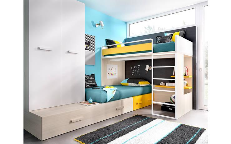 Compactos juveniles: Habitaciones infantiles de estilo  de Mueblalia