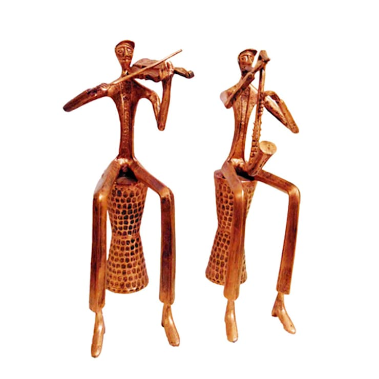 Accent Decor- Sitting Musicians Decorative Sculptures:  Artwork by M4design