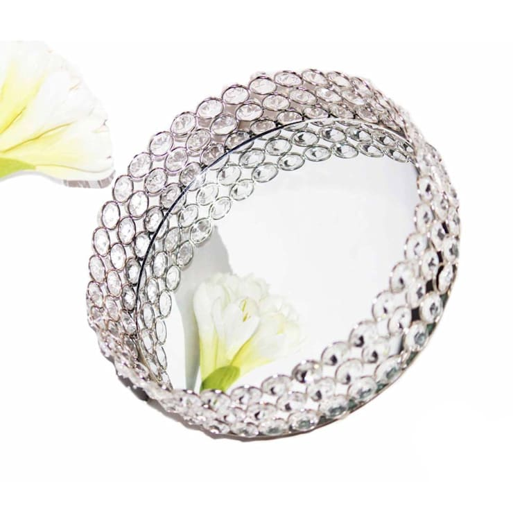 Crystal Round Dry Fruit Serving Tray:  Kitchen by M4design