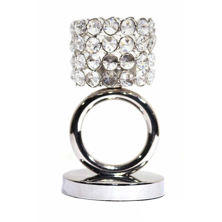 Crystal Ring Tea Light Candle Holders:  Household by M4design