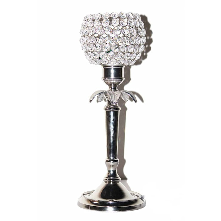 Leaf Carving Crystal Candle Holder:  Household by M4design