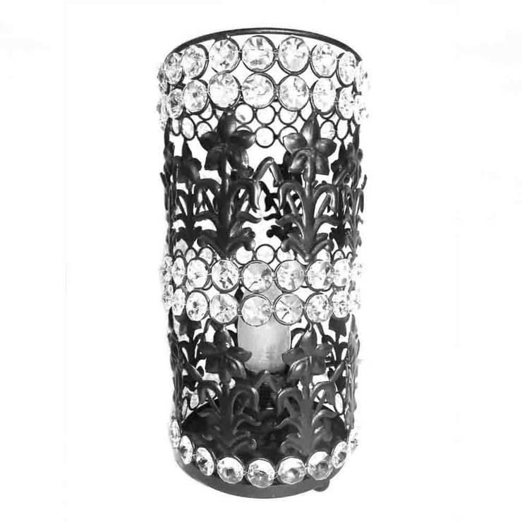 Floral Design Crystal Pillar Lamp:  Household by M4design